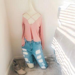 Tobi Pink Blouse